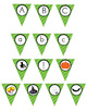 Halloween Pennant/ Bunting 5 - Uppercase and lowercase let