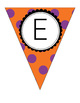 Halloween Pennant/ Bunting 5 - Uppercase and lowercase letters + extras