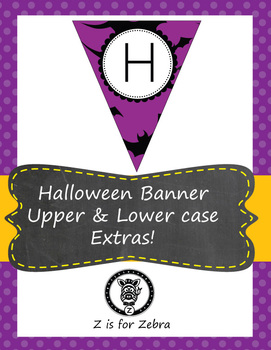 Halloween Pennant/ Bunting 7 - Uppercase and lowercase letters + extras