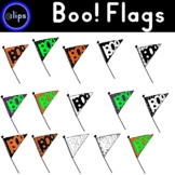 "Halloween Pennant Flag Set ""Boo!"""
