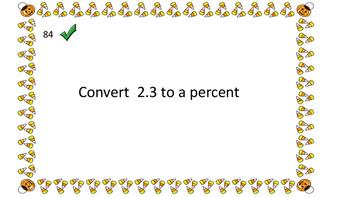 Halloween Percent Decimal Fraction Scavenger Hunt