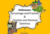 Halloween Percentage and Fraction & Fraction and Decimal Dominos