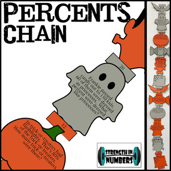 Halloween Percents Paper Chain for Display