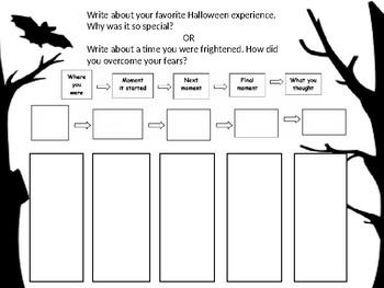 Halloween Personal Narrative Prompt & Organizer