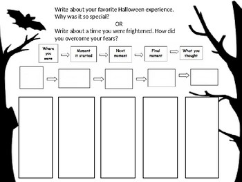 Halloween Personal Narrative Prompt & Organizer
