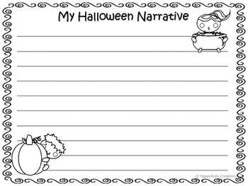 Halloween Personal Narrative Writing Package