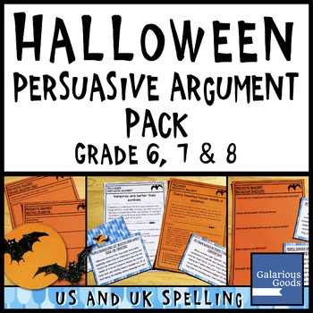 Halloween Persuasive Argument Writing Pack