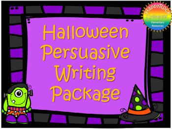 Halloween Persuasive Writing Package