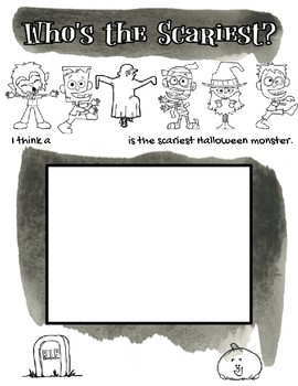 Halloween Persuasive Writing: Which Monster is Scariest?