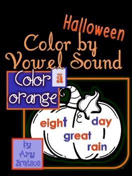 Halloween Phonemic Awareness-Color by Vowel Sound