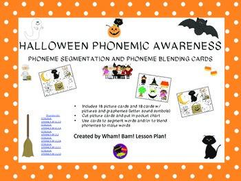 Halloween Phonemic Awareness Pocket Chart Cards