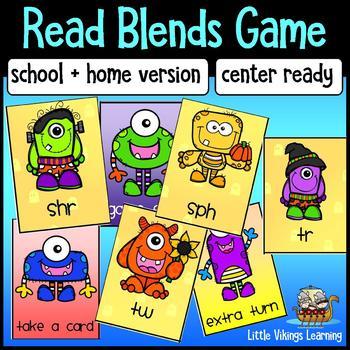 Halloween Phonics Blends Literacy Center