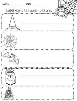 Halloween Phonics Work for Kindergarten