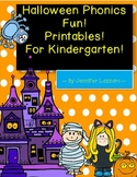 Halloween Phonics Work for Kindergarten