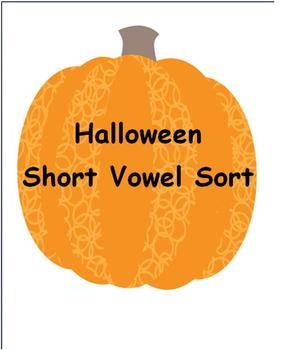 Halloween Phonics Short Vowel Sort
