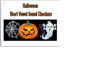 Halloween Phonics Short Vowel Sound Checkers