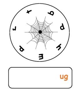 Halloween Phonics Spinners