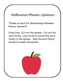 Halloween Phonics Spinners