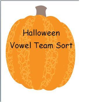 Halloween Phonics Vowel Team