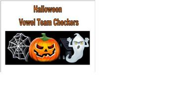 Halloween Phonics Vowel Team Checkers
