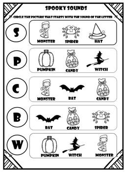 Halloween Phonics Worksheets Teachers Pay Teachers