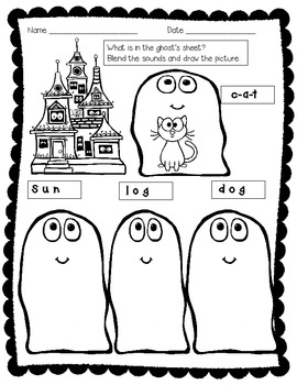Halloween Phonics Worksheets FREE!!!!!!!!!!