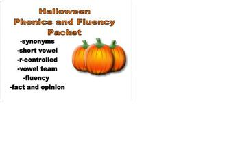 Halloween Phonics and Fluency Reading Packet!