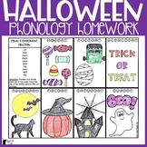 Halloween Phonology Homework