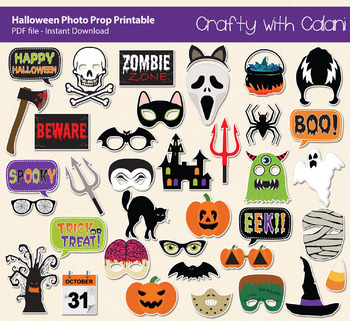 photograph about Halloween Photo Booth Props Printable Free called Halloween Picture Booth Prop, Falls Vacation Celebration Printable