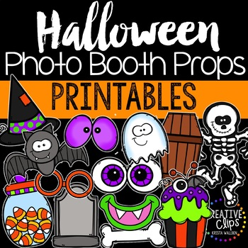 Halloween Photo Booth Props {Made by Creative Clips Clipart}