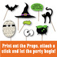 Halloween Photo Booth Props and Decorations - Printable