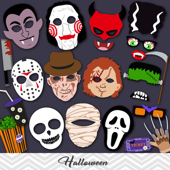Halloween Photobooth Props Digital Halloween Party Photo Booth Props
