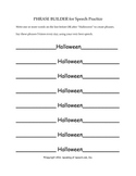 Halloween Phrase Builder for Vocabulary and Articulation