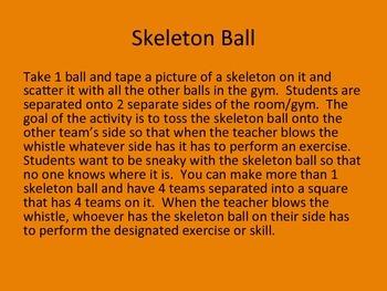 Halloween Physical Education Activities