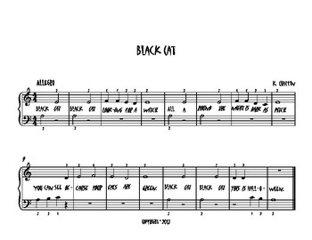 Halloween Piano Solo Black Cat
