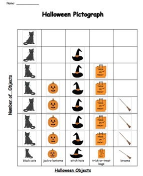 Halloween Pictograph -  4 pages