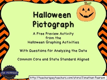 Halloween Pictograph - An Excellent Graphing Review Activity