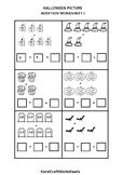 Halloween Picture Addition Worksheet