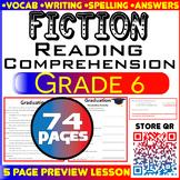 Fiction Reading Comprehension Passages & Questions | CCSS Aligned | Grade 6