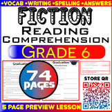 Fiction Passages & Questions | 74 Pages | Grade 6