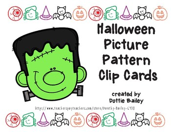 Halloween Picture Pattern Clip Cards