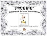 Halloween Picture Prepositions Freebie