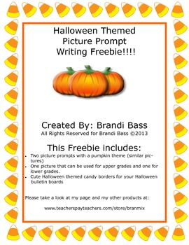 Halloween Picture Prompt Freebie