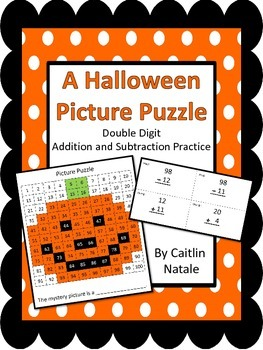 Halloween Picture Puzzle (Addition and Subtraction)