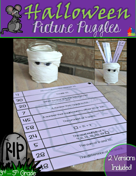 Halloween Picture Puzzles (3rd - 5th Math)