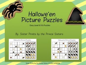 Hallowe'en Picture Puzzles 6x6
