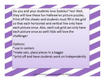 Hallowe'en Picture Puzzles Complete Set