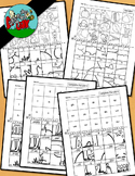 Halloween Picture Puzzles-Missing Letters / Complete the Word & Alphabet Picture