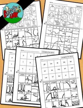 Halloween Picture Puzzles-Missing Letters / Complete the W