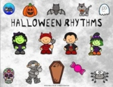 Halloween Picture Rhythms Quarter/Eighth Notes - Google Slide